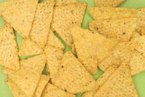 Corn chips as kindling
